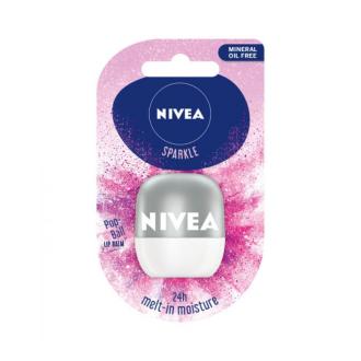 НИВЕА ПОП БОЛ Балсам за устни с Перлен блясък 7гр | NIVEA POP-BALL Lip balm Sparkle 7g