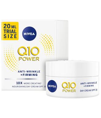 НИВЕА Q10+ ПАУЪР Дневен крем против бръчки SPF15 20мл | NIVEA Q10+ POWER Anti-wrinkle moistiruzing day SPF15 (trial size) 20ml