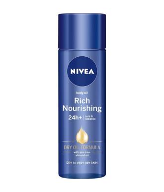 НИВЕА Сухо олио за тяло, 24+ч хидратация 200мл | NIVEA Rich nourishing body oil, 24+h 200ml