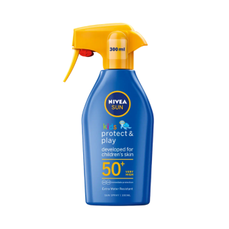 НИВЕА СЪН КИДС ПРОТЕКТ & КЕЪР Детски слънцезащитен спрей SPF50+ 300мл | NIVEA SUN KIDS PROTECT & CARE Sun spray SPF50+ 300ml