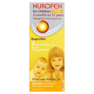 НУРОФЕН ЗА ДЕЦА ПОРТОКАЛ 100мг./5мл. перорална суспензия 100мл. | NUROFEN FOR CHILDREN ORANGE 100mg/5ml oral suspension 100ml