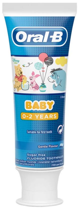ОРАЛ-Б Паста за зъби 0-2 г. БЕЙБИ МЕЧО ПУХ 75мл. | ORAL-B Toothpaste 0-2 BABY WINNIE THE POOH 75ml
