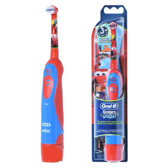 Електическа четка за зъби за деца СТЕЙДЖЕС ПАУЪР (Колите) 3+ БРАУН ОРАЛ-Б | Electric toothbrush battery for kids STAGES POWER (Cars) KIDS 3+ BRAUN ORAL-B