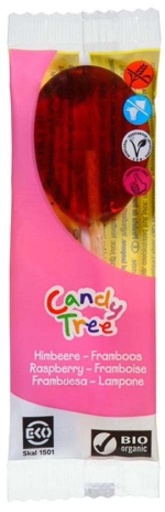БИО Близалка Малина 1бр x 13гр КЕНДИ ТРИ | BIO Lollipop Raspberry 1s x 13g CANDY TREE