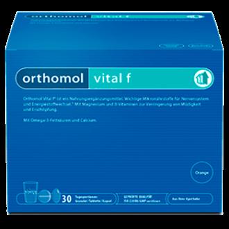 ВИТАЛ Ф за нея 30бр. дози ОРТОМОЛ | VITAL F 30s doses ORTHOMOL