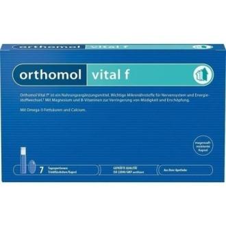 ВИТАЛ Ф за нея 7бр. дози ОРТОМОЛ | VITAL F 7 doses ORTHOMOL