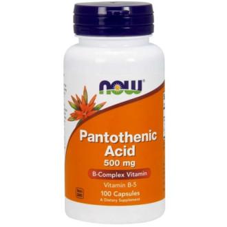 ВИТАМИН Б-5 (ПАНТОТЕНОВА КИСЕЛИНА) 500 мг 100 капс НАУ ФУУДС | VITAMIN B-5 (PANTOTHENIC ACID) 500 mg 100 caps NOW FOODS