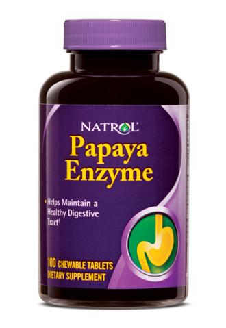 ЕНЗИМ ОТ ПАПАЯ таблетки за дъвчене 100 бр. НАТРОЛ | PAPAYA ENZYME chew tabs 100s NATROL
