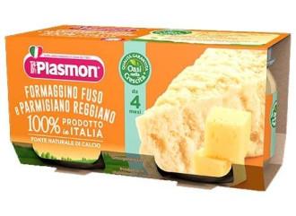 ПЛАЗМОН Пюре Топено сирене с Пармезан 4+ 2x80гр | PLASMON Formaggino fuso e Parmigiano reggiano 4+ 2x80g