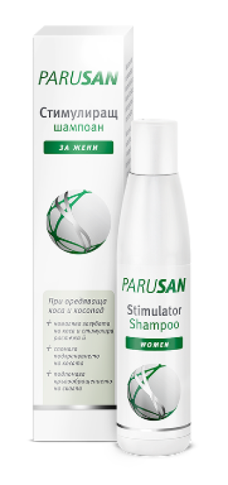 ПАРУСАН Стимулиращ шампоан против косопад за жени 200мл   PARUSAN Stimulator shampoo anti-hairloss women 200ml