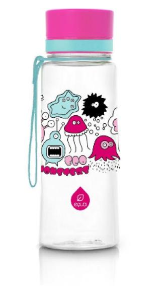 ЕКУА Бутилка без BPA РОЗОВИ ЧУДОВИЩА 600мл | EQUA Eco bottle BPA free PINK MONSTERS 600ml
