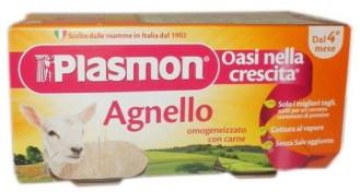 ПЛАЗМОН Пюре Агнешко месо 4+ 2x80гр | PLASMON Agnello 4+ 2x80g