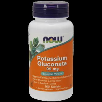 КАЛИЕВ ГЛЮКОНАТ 99 мг 100 табл НАУ ФУУДС | POTASSIUM GLUCONATE 99 mg 100 tabs NOW FOODS