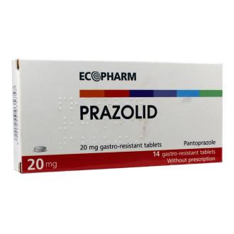 ПРАЗОЛИД 20мг. стомашно-устойчиви таблетки 14бр. | PRAZOLID 20mg gastro-resistnt tablets 14s