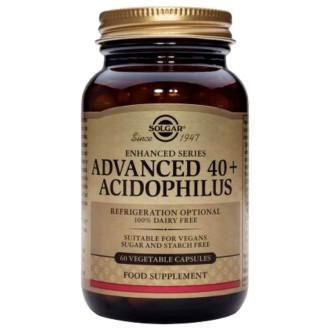 ПОДОБРЕН АЦИДОФИЛУС 40+ растителни капсули 60 бр. СОЛГАР | ADVANCED 40+ ACIDOPHILUS veg.caps 60s SOLGAR