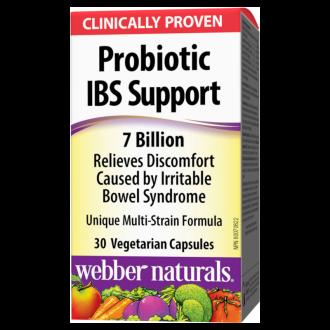 ПРОБИОТИК IBS SUPPORT 7 млрд. активни пробиотици 30бр. вег. капс. УЕБЪР НАТУРАЛС   PROBIOTIC IBS SUPPORT 7 billion active cells 30s veg caps WEBBER NATURALS