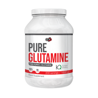 100% ЧИСТ ГЛУТАМИН прах 1000гр ПЮР НУТРИШЪН | 100% PURE GLUTAMINE pwd 1000g PURE NUTRITION