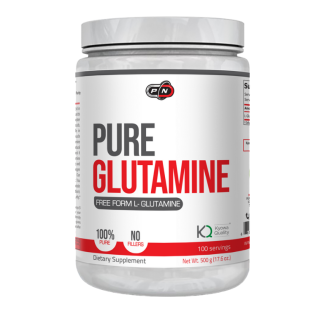 100% ЧИСТ ГЛУТАМИН прах 500гр ПЮР НУТРИШЪН | 100% PURE GLUTAMINE pwd 500g PURE NUTRITION