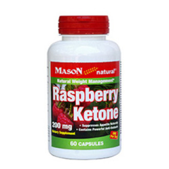 МАЛИНОВИ КЕТОНИ 200мг 60 капсули МЕЙСЪН НАТУРАЛ | RASPBERRY KETONES 200mg 60 caps MASON NATURAL