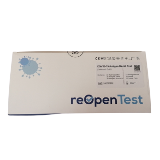Бърз АНТИГЕНЕН тест за коронавирус (ковид) x 25бр REOPEN | COVID-19 Antigen Rapid test x25s REOPEN