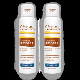 РОЖЕ КАВАЙЕ Регулиращ дезодорант спрей АБСОРБ ПЛЮС 2х150мл   ROGE CAVAILLES MIXTE ABSORB+ spray 2х150ml
