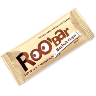 БИО Суров Бар с Боабаб и Джинджифил 30гр РОО'БАР | BIO Raw Bar Boabab Ginger 30g ROO'BAR