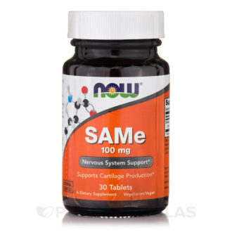 САМ-Е 100мг таблетки 30 бр. НАУ ФУУДС | SAM-E 100mg tabs 30s NOW FOODS