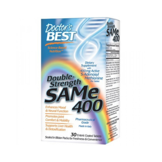 САМ 400мг 30 таблетки ДОКТОРС БЕСТ | SАМ-е double-strenght 400mg 30 tabs DOCTOR'S BEST