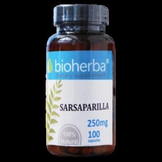 САРСАПАРИЛА 250 мг. 100 капс. БИОХЕРБА | SARSAPARILLA CAPSULES 250 mg. 100 caps. BIOHERBA