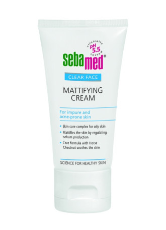 СЕБАМЕД  КЛИЪР ФЕЙС Анти акне Матиращ крем 50мл. | SEBAMED CLEAR FACE Mattifying cream for impure and acne-prone skin 50ml