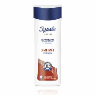 Шампоан против пърхот и косопад ЗДРАВЕ АКТИВ ХИНИН 200мл | Anti-Dandruff and Anti-hair loss shampoo ZDRAVE AKTIV QUININE 200ml
