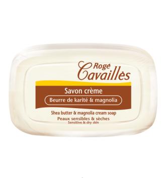 РОЖЕ КАВАЙЕ Крем сапун с масло от карите и магнолия 115гр   ROGE CAVAILLES Shea butter & magnolia cream soap 115g