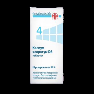 Шуслерови соли НОМЕР 4 Калиум Хлоратум D6 ДХУ | DR. SHUESSLER SALTS N4 D6 DHU