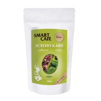СМАРТ КАФЕ БИО Зелено кафе с хибискус 200гр | SMART CAFE BIO Green coffee with hibiscus 200g