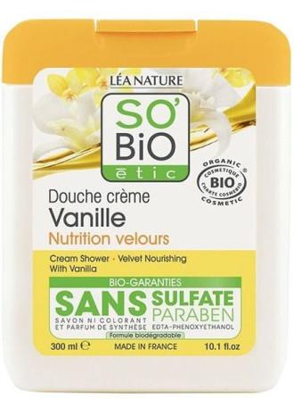 СО'БИО Душ-крем с Ванилия 300мл | SO'BIO Cream-shower with Vanilla 300ml