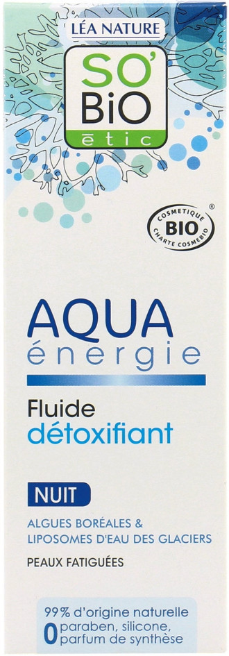 СО'БИО AQUA ENERGIE Нощен детокс-флуид 50мл | SO'BIO AQUA ENERGIE Night detoxifying fluid 50ml