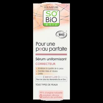 СО'БИО PERFECT SKIN Серум за изравняване на тена 30мл | SO'BIO PERFECT SKIN Tone correcting serum 30ml
