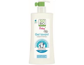 СО'БИО Бебешки почистващ гел за коса и тяло 400мл | SO'BIO Baby gel lavant Body and hair 400ml