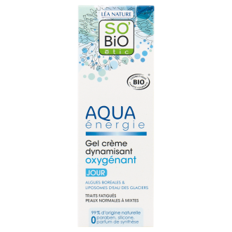 СО'БИО AQUA ENERGIE Оксигениращ дневен гел-крем 50мл | SO'BIO AQUA ENERGIE Dynamizing oxygenating day gel cream 50ml