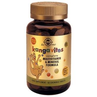 КАНГАВИТС ФОРМУЛА дъвчащи табл. 60бр. (тропически плодове) СОЛГАР | KANGAVITES FORMULA chewable tabs 60s (tropical) SOLGAR