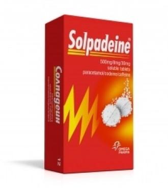 СОЛПАДЕИН разтворими таблетки 12бр., 24бр.   SOLPADEINE soluble tablets 12s, 24s
