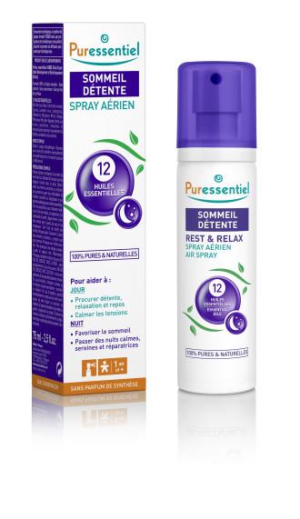 ПЮРЕСЕНШЪЛ Спрей за въздух с 12 етерични масла за сън и отмора | PURESSENTIEL Air Spray with 12 essential oils