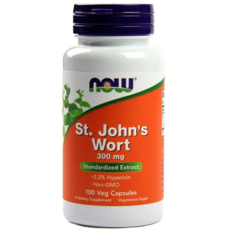 ЖЪЛТ КАНТАРИОН 300мг капсули 100 бр. НАУ ФУУДС | ST. JOHN'S WORT 300mg caps 100s NOW FOODS