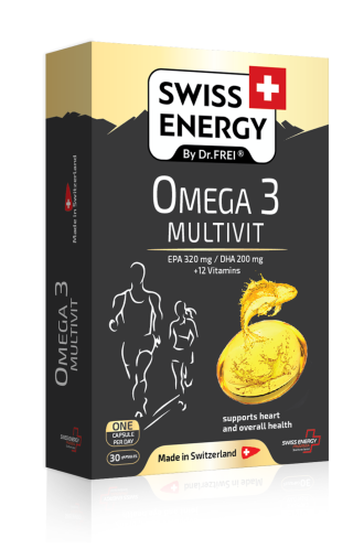 ОМЕГА 3 МУЛТИВИТАМИНИ 30 капс. СУИС ЕНЕРДЖИ | OMEGA 3 MULTIVIT 30s caps SWISS ENERGY