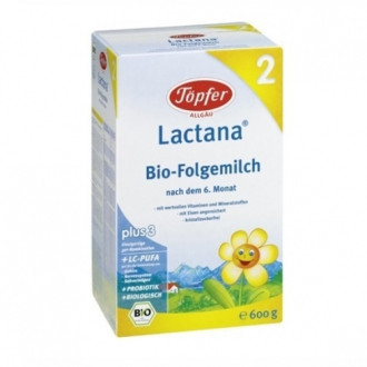 ЛАКТАНА БИО 2 Преходно мляко 6+ м. 600гр. | LACTANA BIO 2 Follow-on formula 6+m 600g
