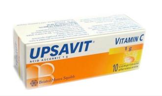 УПСАВИТ ВИТАМИН С ефервесцентни таблетки 10бр. | UPSAVIT VITAMIN C effervescent tablets 10s