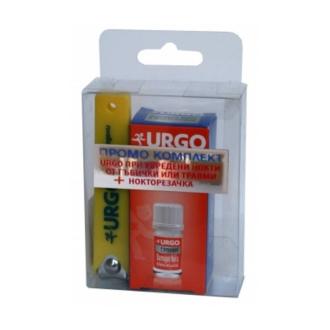 Комплект при увредени нокти от гъбички или травми + нокторезачка УРГО   Set for damaged nails URGO