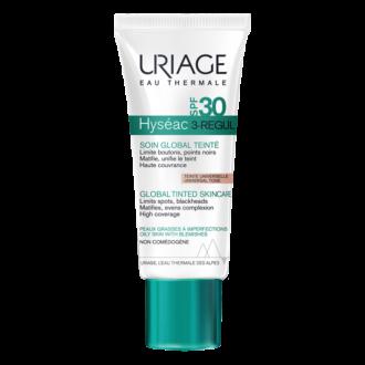 Флуид за лице SPF30 тониран 40мл ЮРИАЖ ХИСЕАК 3-РЕГУЛ | Global tinted skincare SPF30 40ml URIAGE HYSEAC 3-REGUL
