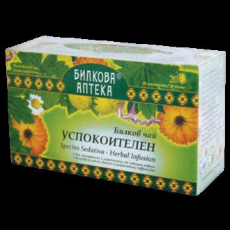 Билков чай Успокоителен 20бр вилтърни пакетчета, 30гр БИЛКОВА АПТЕКА БИОХЕРБА | Herbal tea Relaxing 20s teabags 30g HERBAL PHARMACY BIOHERBA