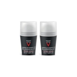 ВИШИ ПРОМО ХОУМ Дезодорант рол-он против петна за мъже 72 часа 2x50мл | VICHY PROMO HOMME Deodorant anti-transpirant control 72 hours 2x50ml